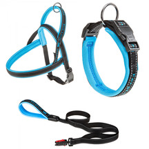 Ferplast Sport Dog Collar, Lead and Harness Blue