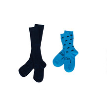 Lamington Socks Black Teal Pack