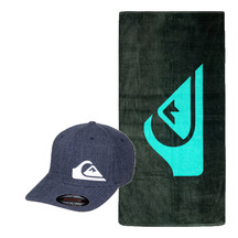 QUIKSILVER Navy Cap and Mountain Wave Towel Pack