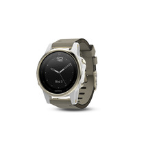 Garmin fenix 5s Champagne Smartwatch with Leather Band