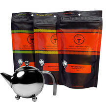 t leaf T Teapot and organic teas pack