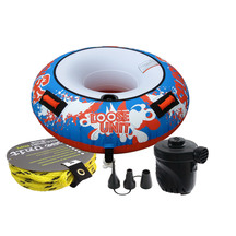 Loose Unit Splash 1 Person Round Tube with Rope & Pump