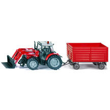 SIKU 1:32 Massey Ferguson 894 with Front Loader and 4-Whe...