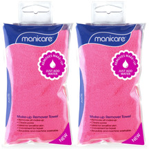Manicare Make Up Remover Towels - 2 pk