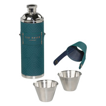 Ted Baker Hip Flask with Shot Cups
