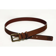 Swanndri Men's Tan Leather Twin Keeper Belt