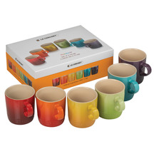 Le Creuset Stoneware Rainbow Mug 350ml - Set of 6