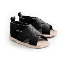 Pretty Brave Baby Cross Over Sandal - Black