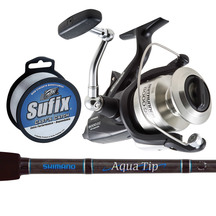 Shimano Baitrunner Reel and Aquatip Spin Rod