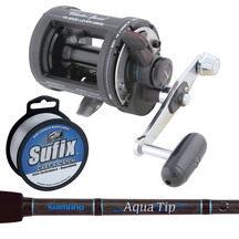 Shimano Fishing Reel & Aquatip Boat Rod