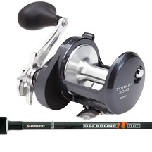 Shimano Torium Fishing Reel & Backbone Boat Rod