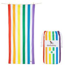 Dock & Bay Quick Dry Microfibre Beach Towel - Rainbow