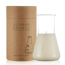 Alchemy Clear Glass Conical Candle