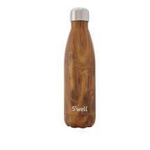 S'Well: Wood Collection Bottle - Teakwood