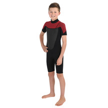 Torpedo7 Youth Boy's Evo 2/2 Spring Suit - Black/Red