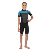 Torpedo7 Youth Girl's Evo 2/2 Spring Suit - Black/Light Blue
