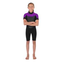Torpedo7 Youth Girl's Evo 2/2 Spring Suit - Black/Purple