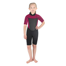 Torpedo7 Junior Girl's Evo 2/2 Spring Suit - Black/Pink