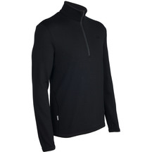 Icebreaker Mens Original Zip Sweater - Black