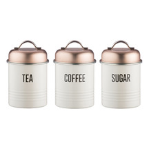 Typhoon Vintage Copper Canisters - Set of 3