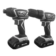 All Blacks 2 piece 18V Lithium-Ion Cordless Drill & Impac...