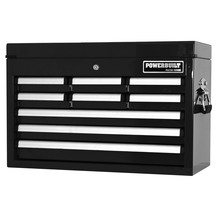 Powerbuilt 9 Drawer Racing Series Tool Chest - Black