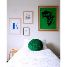 Henry and Co World Map Duvet Cover