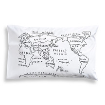 Henry and Co World Map Pillowcase
