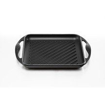 57706 le creuset square grill black original