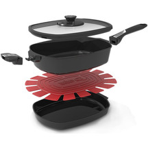 Weber Q Ware Casserole and Frying Pan Set - Large