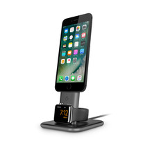Twelvesouth hirise duet dual charging stand for iphone and iwatch (space grey)  12 1634 2