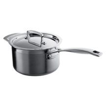 Le Creuset 3-ply Stainless Steel Saucepan & Lid 18cm