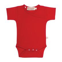 Mokopuna Merino Short Sleeve Bodysuit Ruby