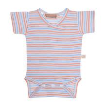 Mokopuna Merino Short Sleeve Bodysuit Sunburst Stripe