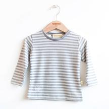 Mokopuna Merino Long Sleeve T-shirt Cloudy Bay Stripe