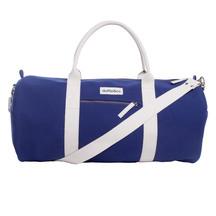 Duffle & Co: The Brittian Canvas Duffle Bag Blue