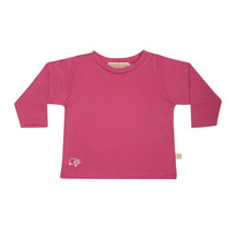 Mokopuna Merino Long Sleeve T-shirt Raspberry