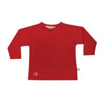 Mokopuna Merino Long Sleeve T-shirt Ruby