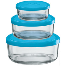 Borgonovo Igloo Glass Round Storage Set