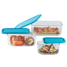 Borgonovo Igloo Glass Rectangular Storage Set