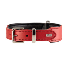 Hunter Boston Leather Dog Collar - Red