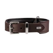 Hunter Boston Leather Dog Collar - Brown