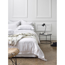 Thread Design White Linen Duvet Set