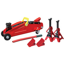 Powerbuilt Jack, Axle Stands & Wheel Chock Kit