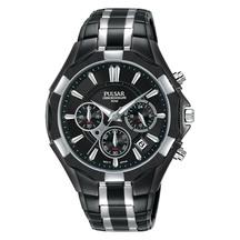 Pulsar Men's Black & Silver Chronograph Watch PT3857X