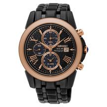 Seiko Men's Le Grand Sport Solar Chronograph Black Watch ...