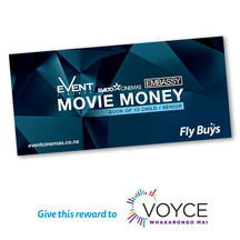 Event Cinemas Vouchers - Book of 10 Child/Senior (Donation)