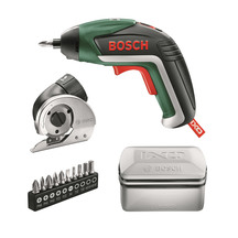 Bosch IXO-V Cordless Screw Driver and 10 pcs Drill Bits Set