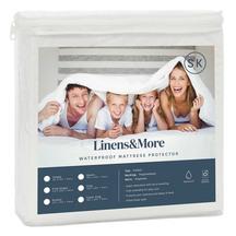 Linens&More Waterproof Cotton Mattress Protector Superking