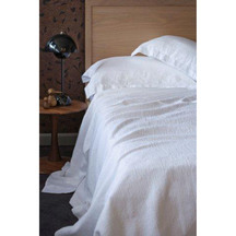 European Vida Pure Linen White Flat Sheet